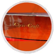 Chris Craft Logo Round Beach Towel by Michelle Calkins