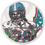 Chris Johnson  Round Beach Towel by Jeremiah Colley