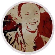 Chris Martin Coldplay Round Beach Towel