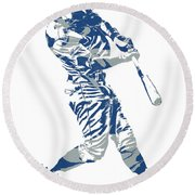 Chris Taylor Los Angeles Dodgers Home Run Round Beach Towel
