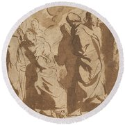 Christ Healing The Paralytic Round Beach Towel