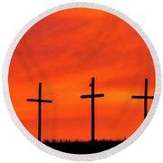 Christ Pilot Me Hill -02 Round Beach Towel