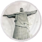 Christ The Redeemer Round Beach Towel by Andrew Matwijec