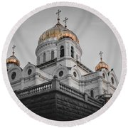 Christ The Savior Cathedral Round Beach Towel