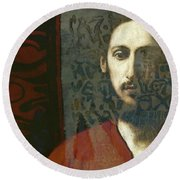 Christ You Know It Ain't Easy  Round Beach Towel