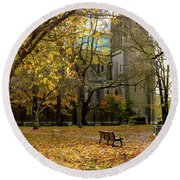 Christchurch Cathedral Round Beach Towel