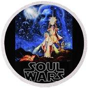 Christian Star Wars Parody - Soul Wars Round Beach Towel