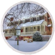 Christina Campbell Tavern Colonial Williamsburg Round Beach Towel