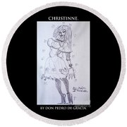 Christinne Round Beach Towel by Don Pedro De Gracia