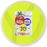 Christmas 2 Round Beach Towel