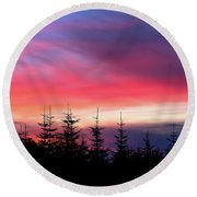 Christmas 2016 Sunset Round Beach Towel