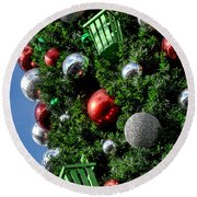 Christmas Balls Round Beach Towel