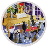Christmas Chorus Round Beach Towel