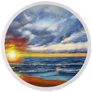 Christmas Cove Round Beach Towel
