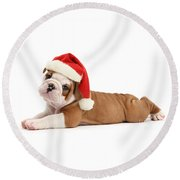 Christmas Cracker Round Beach Towel