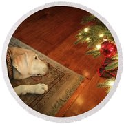 Christmas Dreams Round Beach Towel