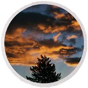 Christmas Eve Sunrise 2016 Round Beach Towel
