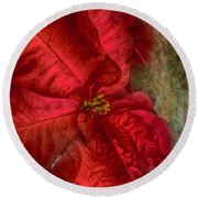 Christmas Flower Round Beach Towel