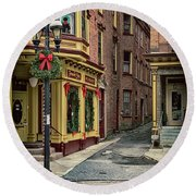 Christmas In Jim Thorpe Round Beach Towel