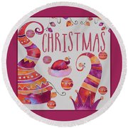 Round Beach Towel featuring the photograph Christmas by Jeff Burgess