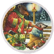 Christmas Journey Round Beach Towel