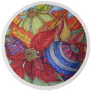 Christmas Joys Round Beach Towel