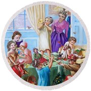 American History  We Say Merry  Christmas  Because It Is Christmas  Round Beach Towel