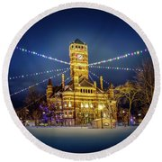 Christmas On The Square 2 Round Beach Towel