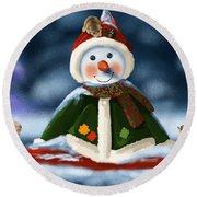 Christmas Party Round Beach Towel by Veronica Minozzi