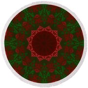 Christmas Quilt Round Beach Towel