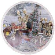 Christmas Spirits Heading To Topsail Island Nc Round Beach Towel