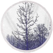Snow Spirits Round Beach Towel