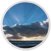 Christmas Sunrise Delray Beach Florida Round Beach Towel
