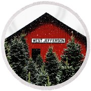 Christmas Town Round Beach Towel by Dale R Carlson
