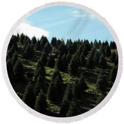 Christmas Tree Farm Round Beach Towel