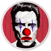 Christopher Walken 2 Round Beach Towel