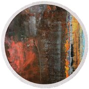 Chromatic Steel Round Beach Towel