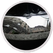 Chrome Bumper Round Beach Towel by Mary-Lee Sanders