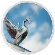 Chrome Swan Round Beach Towel