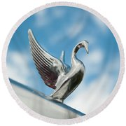 Chrome Swan Round Beach Towel