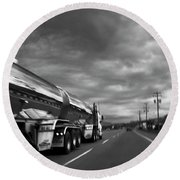Chrome Tanker Round Beach Towel