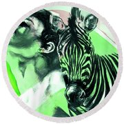 Chronickles Of Zebra Boy   Round Beach Towel