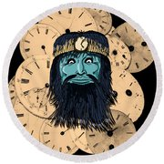Chronos Round Beach Towel