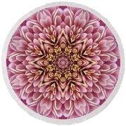 Chrysanthemum Kaleidoscope Round Beach Towel