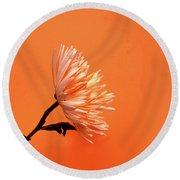Chrysanthemum Orange Round Beach Towel