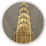 Chrysler Building New York Ny Round Beach Towel by Panoramic Images