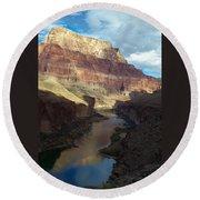 Chuar Butte Colorado River Grand Canyon Round Beach Towel