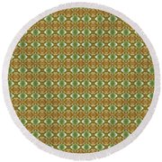 Round Beach Towel featuring the mixed media Chuarts By Clark Ulysse Onlsg2018 2b by Clark Ulysse