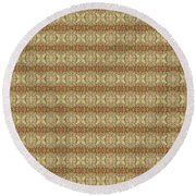 Round Beach Towel featuring the mixed media Chuarts Epic 195c 2 by Clark Ulysse