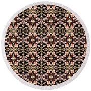 Round Beach Towel featuring the mixed media Chuarts Epic 2 by Clark Ulysse